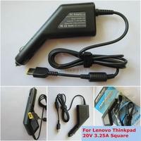 Автомобильное зарядное устройство (автоадаптер, автозарядка) для ноутбука Lenovo Yoga 20V 3.25A прямоугольный разъем